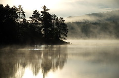 fall time mists (anj_p) Tags: barrysbay canada autumn fall fog lake mist morning reflection calm tranquility mood