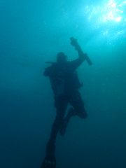 steve going up (richie rocket) Tags: scillies seasearch scillyisles cornwall uk underwater scuba diving