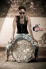 Kym Pose (Tasz Strachan) Tags: trip woman black sexy girl fashion female pose fun lights model pretty fierce jamaica concept portriat edgy mywinners taszphotography