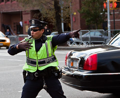 Toreador (Robbing Peter) Tags: street nyc newyorkcity sunglasses keys one trafficlight gun traffic cab taxi streetphotography police gloves cop whistle greenwichvillage walkietalkie trafficcop