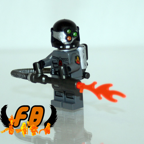 CREATIONS FOR CHARITY - Futuristic Flamethrower View 2