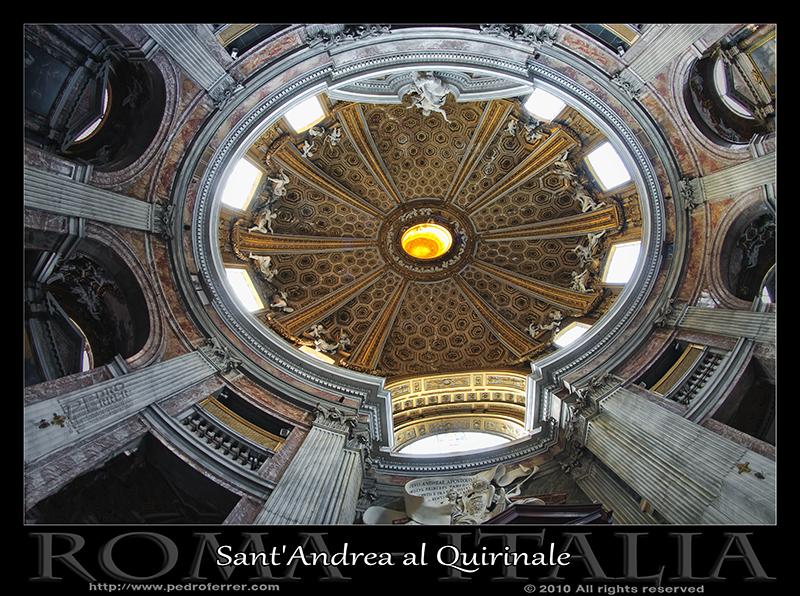 Roma - Sant'Andrea al Quirinale - Cúpula