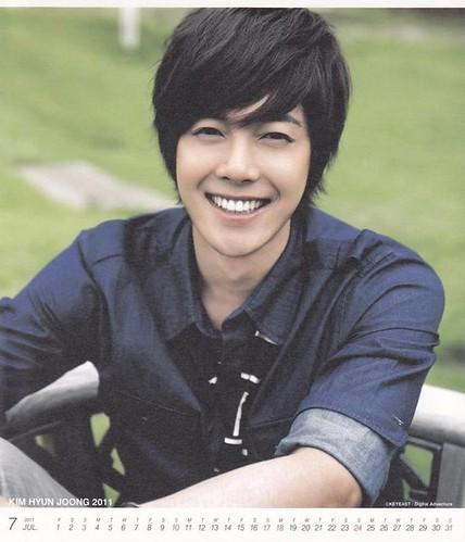 Kim Hyun Joong 2011 Calendar July
