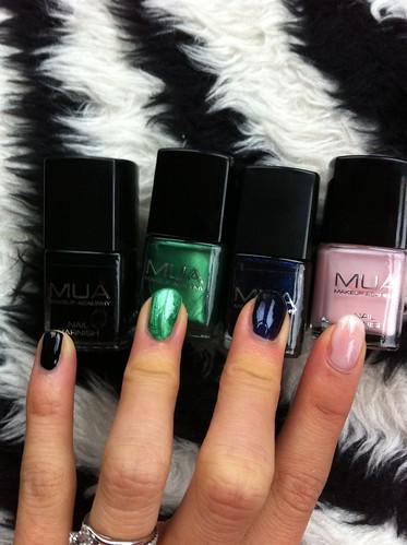 MUA nail polish swatches, MUA cosmetics