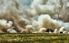 Fire on the Plains - 2007 (Jeff Clow) Tags: oklahoma fire dangerous smoke prairie wildfire billowing prairiefire gapr