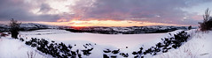 Panoramic sunset @24mm (The Reverend JT) Tags: winter snow manchester peakdistrict panoramic hyde oldham 1224mm glossop d300