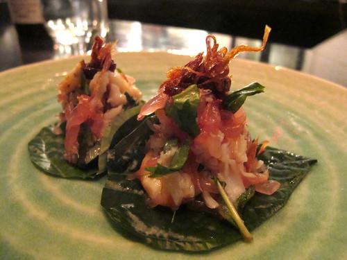 Spanner crab betel leaf