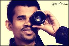 Give Vision. (Prabhu B Doss) Tags: portrait india 50mm nikon blind bangalore vision help bhp 105mm chandrakanth d80 prabhub samarthanam prabhubdoss givevision helpportraitcom speciallyabled zerommphotography 0mmphotography