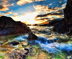 Charlie Young Beach, Sunset with low tide, Kihei, Maui, Hawaii (Don Briggs) Tags: ocean sand rocks waves mauihawaii donbriggs tokina1116lens nikond5000 charlieyoungbeachkiheimauihawaii