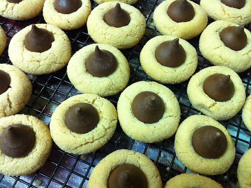 Peanut Butter Blossom (Kiss) Cookies