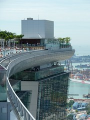 The top of Marina Bay Sands