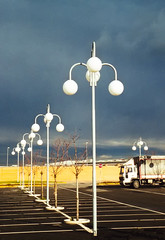 white lamps (claudio.ghizzoni) Tags: street sunset panorama walking landscape piazza piacenza