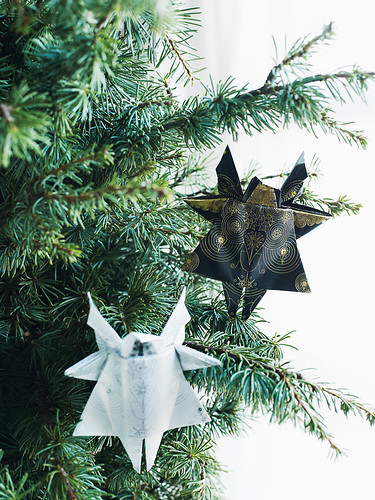 Origami Holiday Ornaments