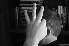 Threee Ones Up (nmp.hotography) Tags: camera portrait bw white man black male guy english blanco persona photo