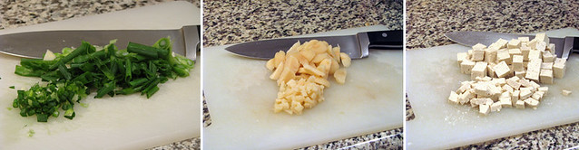 Chopped Ingredients for Wontons