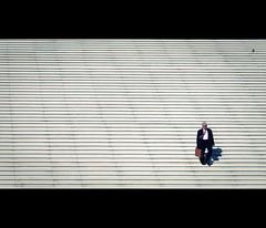 the arrival (millan p. rible) Tags: street cinema paris france canon movie still candid stranger minimalism cinematic ladéfense grandarch 135l lagrandearchedeladéfense canonef135mmf2lusm thearrival canoneos5dmarkii 5d2
