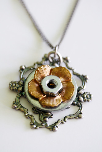 Steampunk Influenced Art Pendant