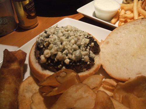 Black and bleu burger
