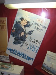 """Gee!! I wish I were a man"" U.S. Navy recruitment poster (FranMoff) Tags: woman poster boat ship navy olympia sailor cruiser uss c6 recruitment ca15 protectedcruiser cl15 ix40"