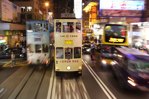 Tram #105 on Hong Kong Island