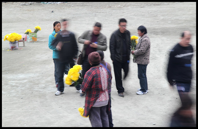 Wenchuan flower sellers