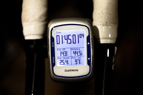 44.5km 105min ave25.4