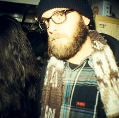 Lomography Second Paris Store Opening Party (05) - 28Oct10, Paris (France) (philippe leroyer) Tags: party portrait man paris film 35mm square beard glasses store xpro lomography magasin slide mini scan diana cap 200 opening analogue soire bonnet 35 lunettes ektachrome barbe ouverture homme argentique carr diapositive ekta diapo pellicule positif lomographyslidexpro200 dianamini