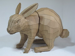 afsart:Tessellated Rabbit 02 (afsart) Tags: pepakura digitalfabrication andrewfscott afsart fablabscad tesselatedrabbit
