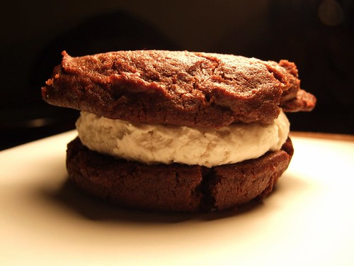 Gluten free vegan cookie sandwich -Eat this cookie, before it eats you