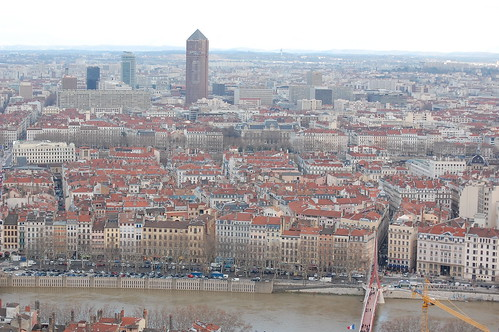 Lyon, taken from the basilica of Notre-Dame de Fourvière.