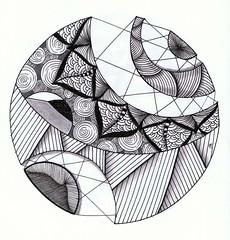 hanging on by a thread (Jo in NZ) Tags: pen ink drawing line zentangle nzjo