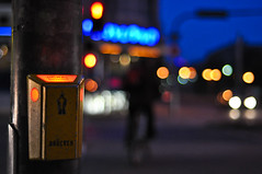 (Michad90) Tags: street city people night 50mm lights nikon dof bokeh explore f18 karlsruhe frontpage d90