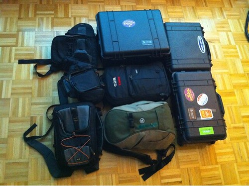 Speaking of camera bags, there's a point at which a man realizes he has too many. I'm well past that!
