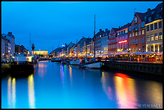Copenhagen - Nyhavn Harbour Looking Towards Kongens Nytorv (Yen Baet) Tags: houses water rain night copenhagen denmark nyhavn harbor canal europe harbour dusk country capital tourist rainy danish destination colored littlemermaid christiansborg rosenborg marmorkirken kobenhavn charlottenborg copenhague kobenhaven hanschristianandersen amalienborg kongensnytorv marblechurch operaen   copenhaghen royalplayhouse scnadinavianordic bluehourtwilight