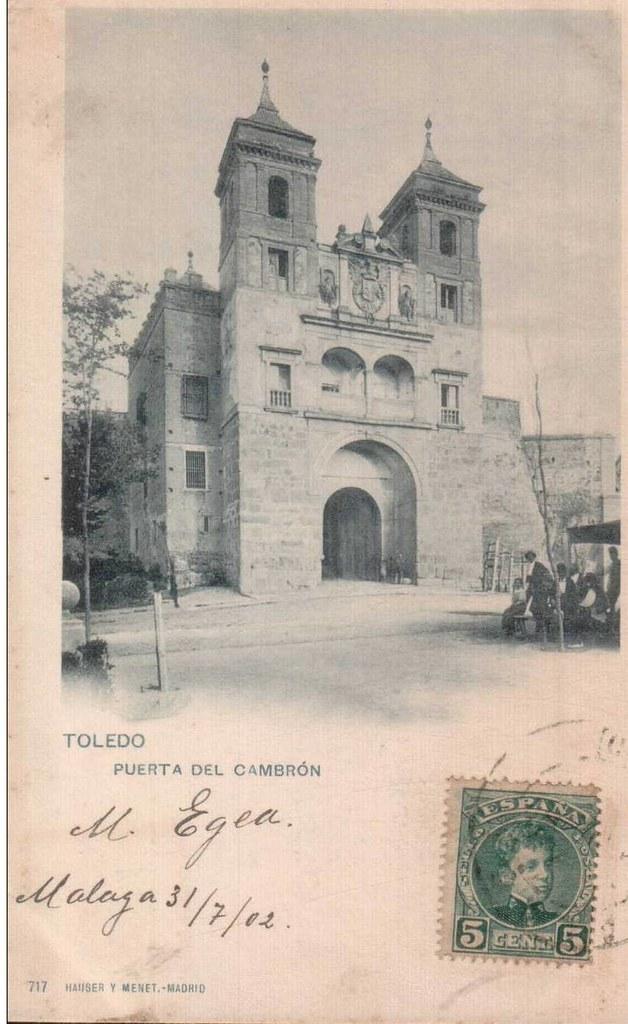 Puerta del Cambrón hacia 1900. Fotografía de Hauser y Menet