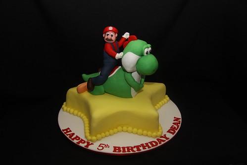 Yoshi and Mario cake