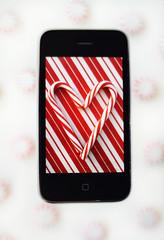 iLove Christmas ( suzanne) Tags: xmas candycanes iphone photofun clichsaturday ilovetheholdiays