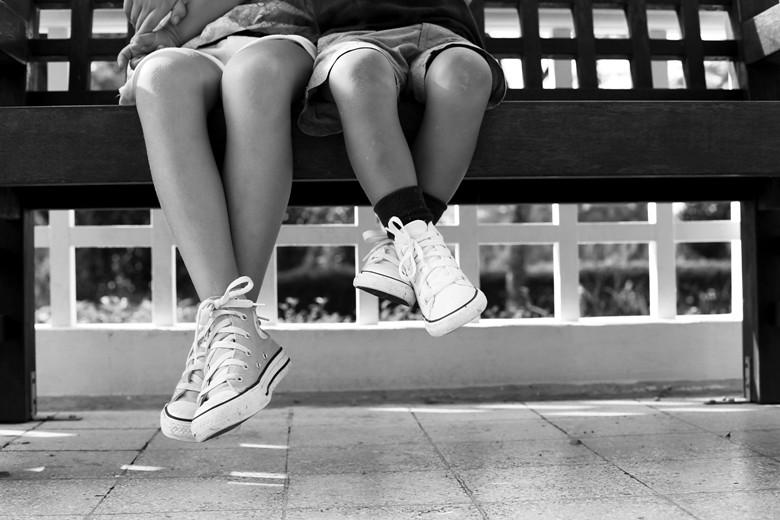 fötter svartvitt