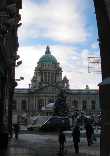 Belfast City Hall in the Snow