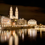 The Grossmuenster at night