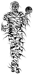 HALLOWEEN (Black Crown . tribal) Tags: white black art design tribal tatoo mumia