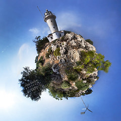 Turkey : Lykia Coast : Gelidonya Feneri Planet (a.Kry) Tags: panorama turkey lens pano sigma wideangle countries canondslr canoneos  oldlighthouse turkishriviera sigma1020 50d  turquoisecoast canoneos50d  gelidonyafeneri gigapan    akryphotoart gigapanepicpro motorizedpanoramichead  lykiacoast    panoramicrobot