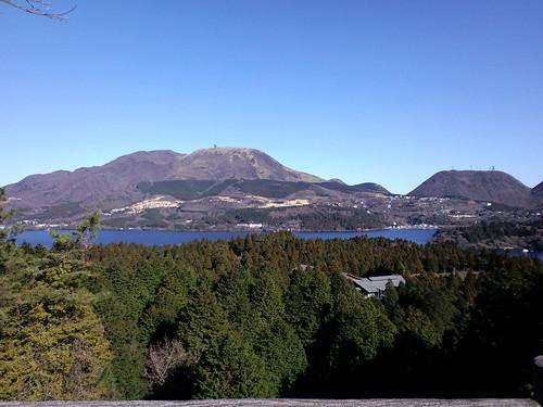 道の駅箱根峠から見る箱根山方面