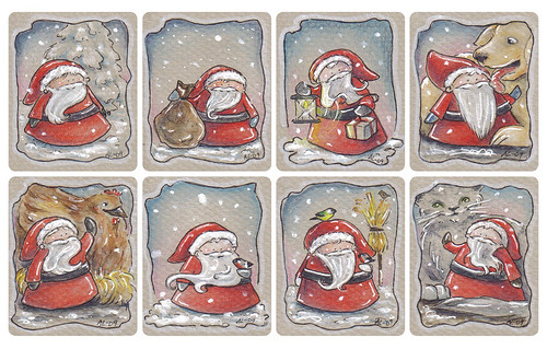 Christmas tags, set 5