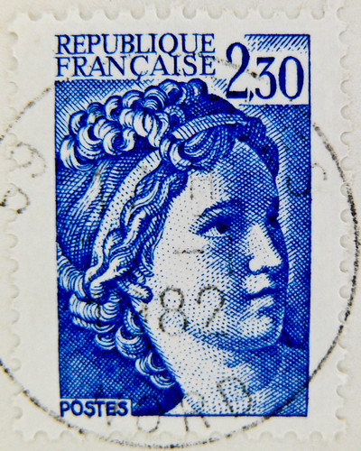 "beautiful french stamp France 2.30 (Marianne ""allegory"") Briefmarke Frankreich  timbre postage Francia sello 邮票 法国 yóupiào Fǎguó почтовая марка Франция ongkos kirim perangko Perancis رسوم البريد طوابع فرنسا postaköltség bélyegek Franciaország pullar Frans"