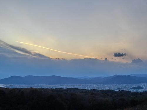 綺麗な飛行機雲