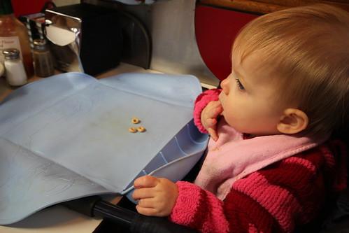 Annie eating