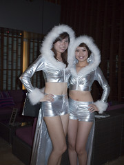SkyBar Eskimo Girls 2 (tonywinardi) Tags: trip girl bar costume malaysia kualalumpur eskimo skybar