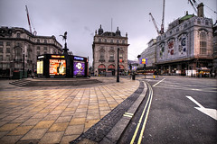 Piccadilly Circus (murphyz) Tags: street london abandoned britain bare empty neglected piccadillycircus vacant lonely olympic olympics forsaken solitary desolate barren derelict uninhabited lorn hdr isolated christmasday 2012 forlorn london2012 bereft londonist 2012olympics londonolympics relinquished olympiccity