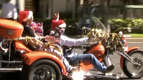 Rick Davis President Street Bikers United Oahu brings toys